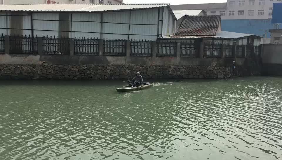 14' Vicking Novo Design Pé Pedal pedal de sentar em cima do caiaque de pesca Caiaque com Leme