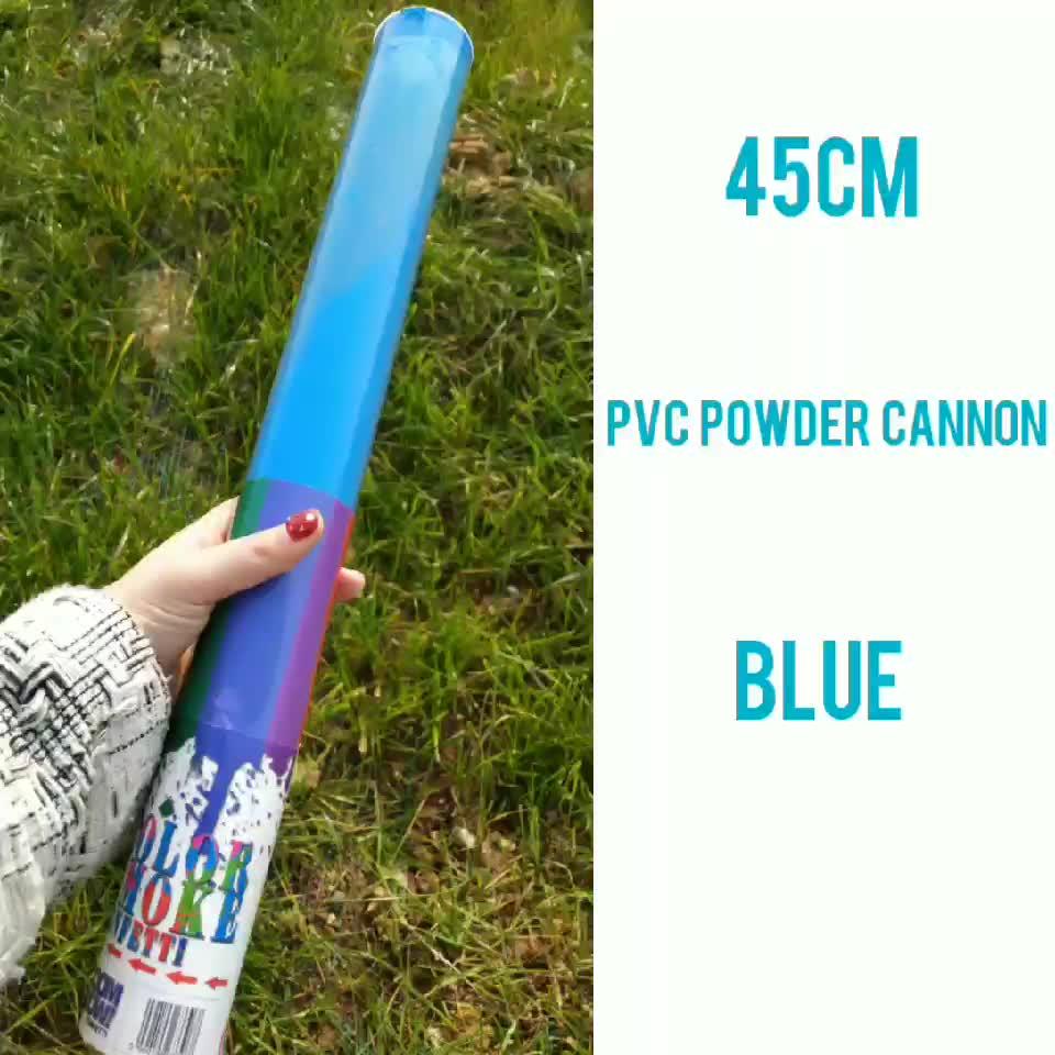 Boomwow holi pulver rosa blau farbe rauch geschlecht offenbaren partei liefert konfetti kanone für baby dusche dekoration