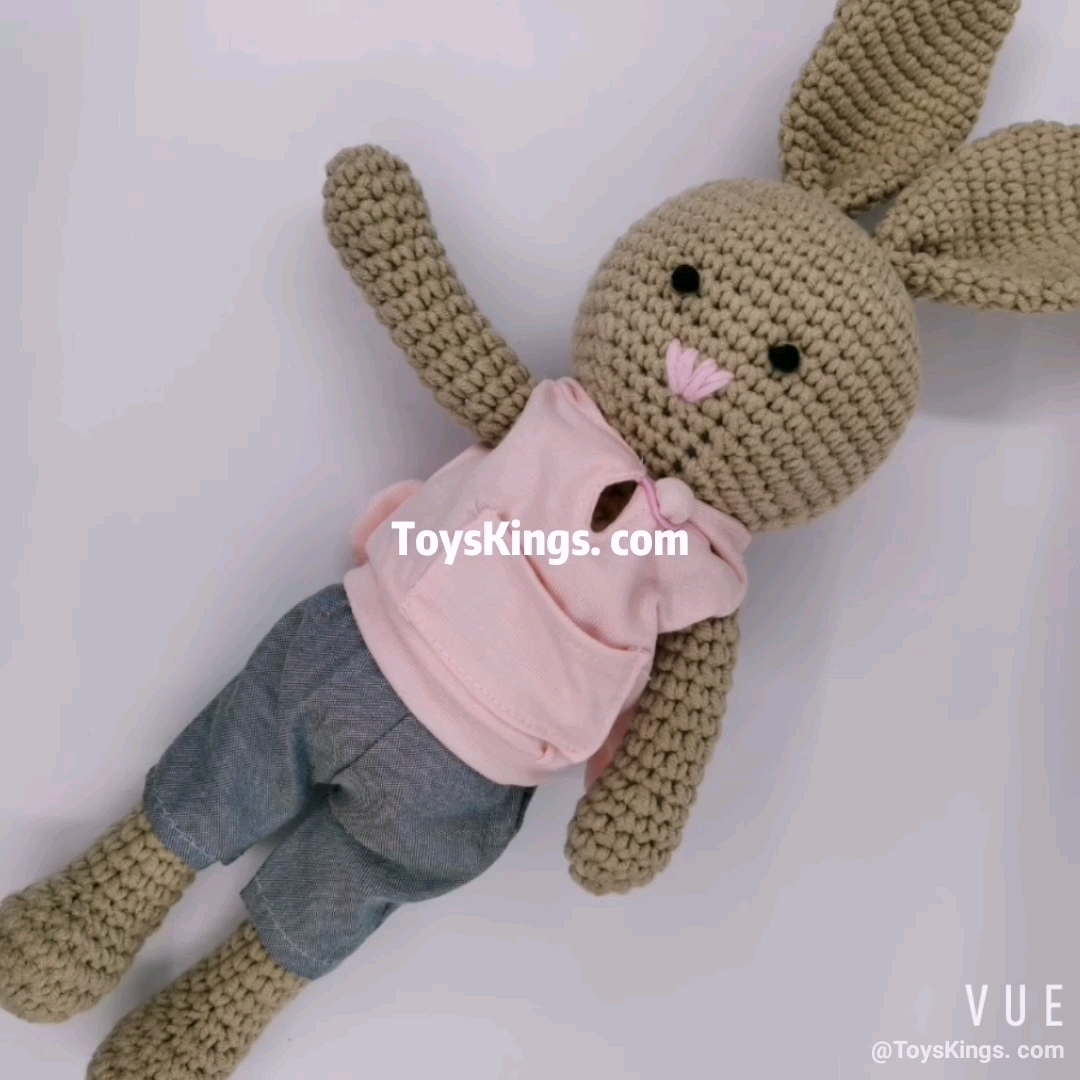 The Cutest Amigurumi Bunny Patterns with Clothes Perfect for Easter! | 1080x1080