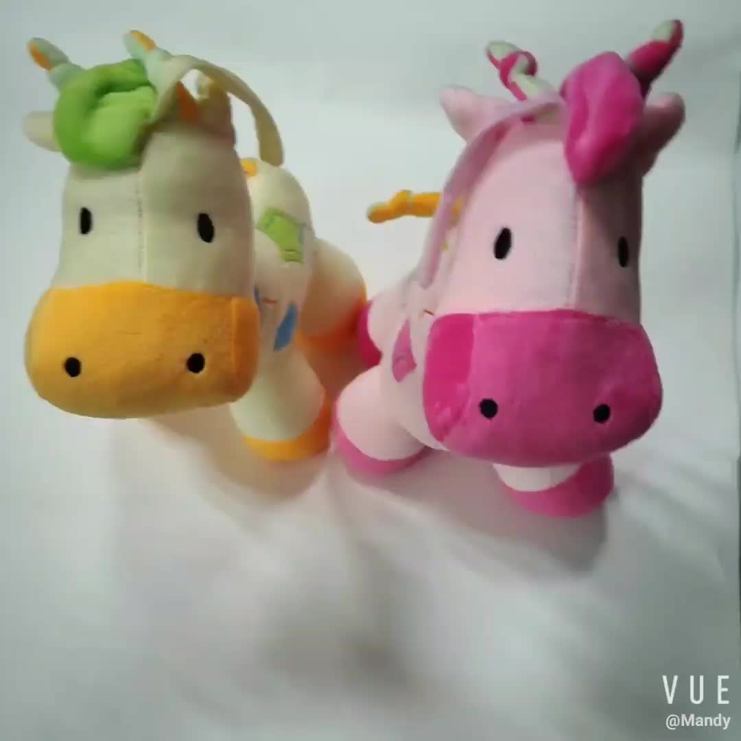 Main product OEM design giraffe cute baby stuff plush toy with music sound for wholesale