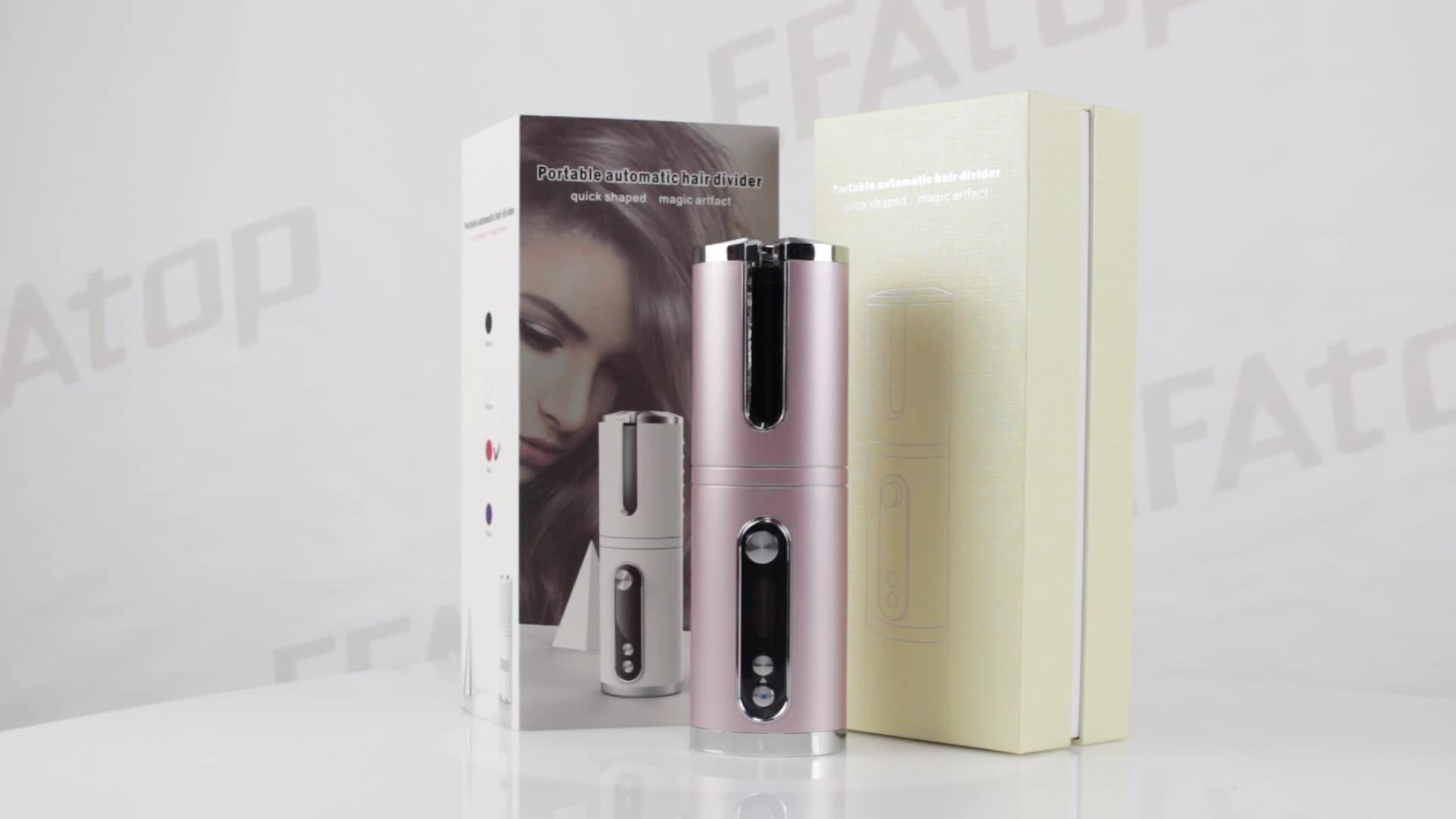 Nuovo Arrivo Viaggi Cordless Automatico 160-200C 25 millimetri USB Charger Bigodino di Capelli