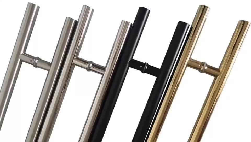 Tubo tondo Ladder Style Anteriore Oro Porta Maniglia Moderna