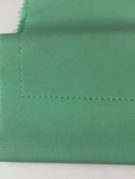 Toptan stokta 100D 4 yönlü streç polyester ponje astar kumaş