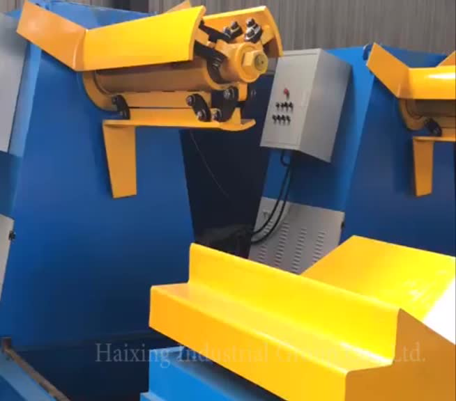 Hydraulic automatic steel sheet decoiler with trolley