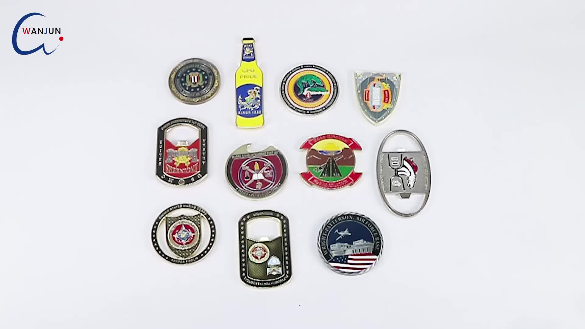 Manufacturer wholesale custom metal enamel shield souvenir challenge coin