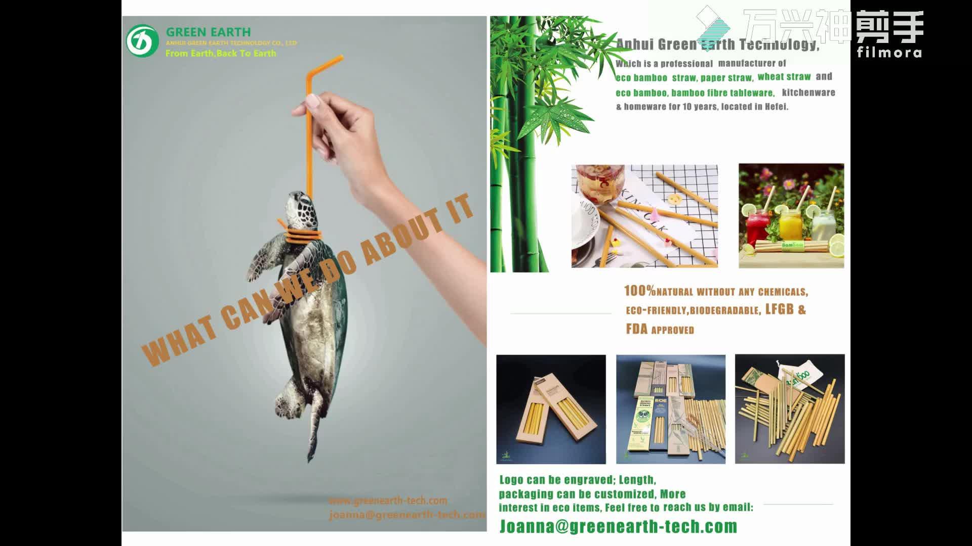 Qualità stabile riciclabile di paglia bio a base di eco friendly cannucce tossico-di bambù libero di paglia bere