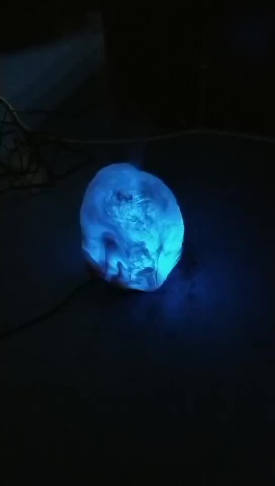 OEM güzel tuz taş 100ML uçucu yağ difüzörü 7 renk tuz kayaları aroma nemlendirici