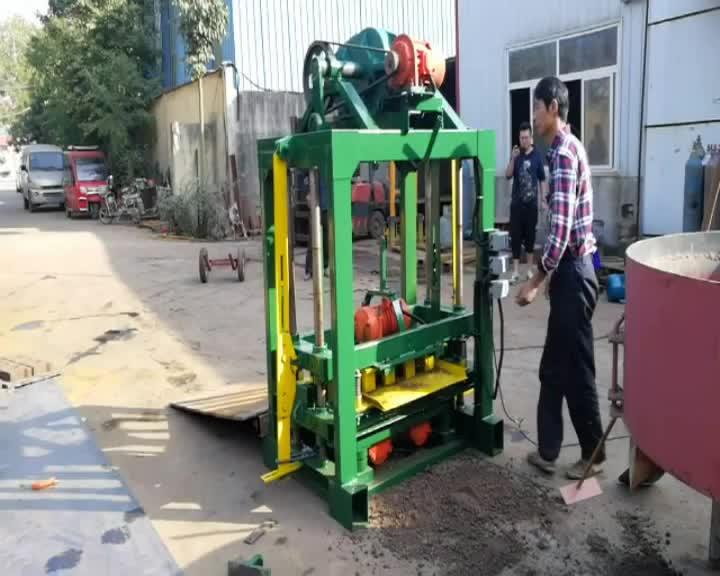 QT40-2 manuelle hohl block maker maschine für beton zement block ziegel fertiger