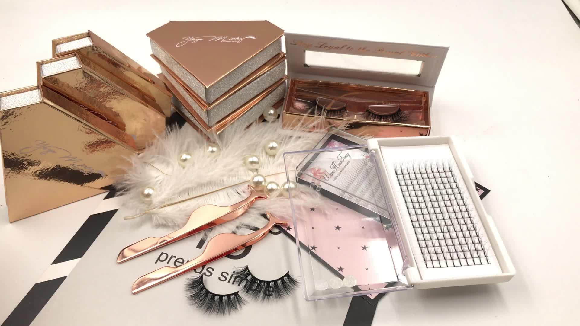 Falsche Wimpern des Großhandels kundenspezifische Wimper, die Nerz-Wimpern 3D verpackt