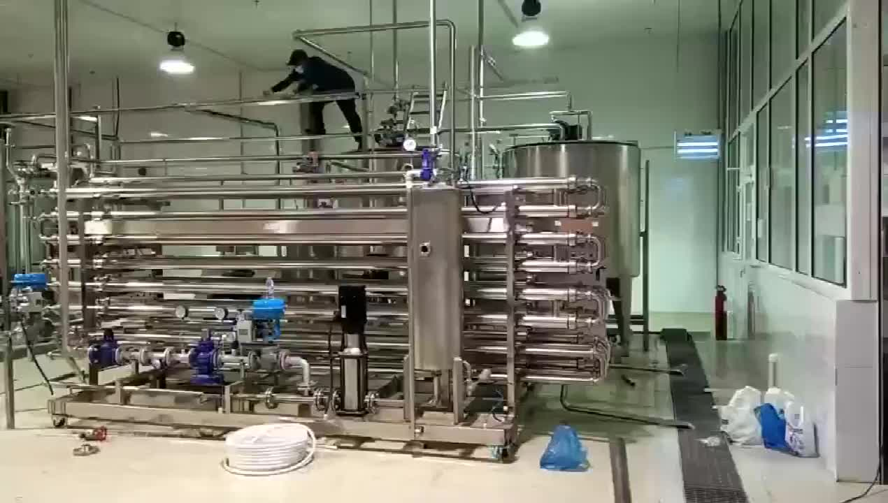 Stainless Steel automatic 200 liters Mini Pasteurizer Plant Milk Pasteurization Machine