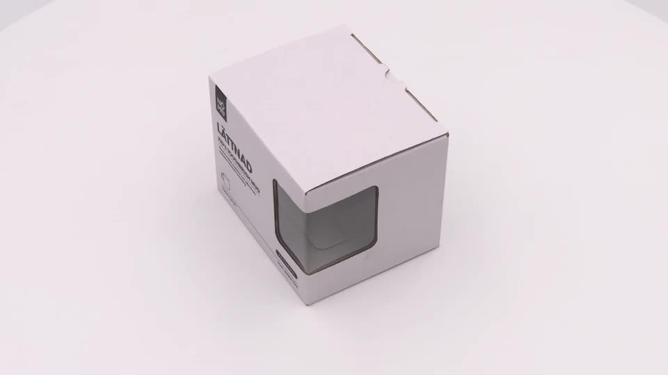 White Color Corrugated Cardboard Box with PVC Windows for Packaging Cup