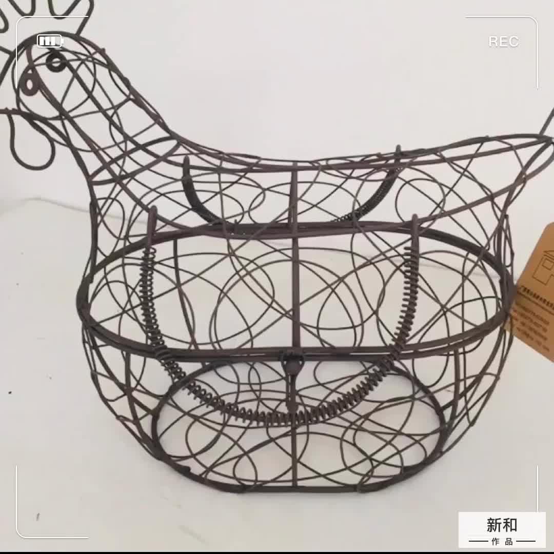 Metal Tel Yumurta Sepeti