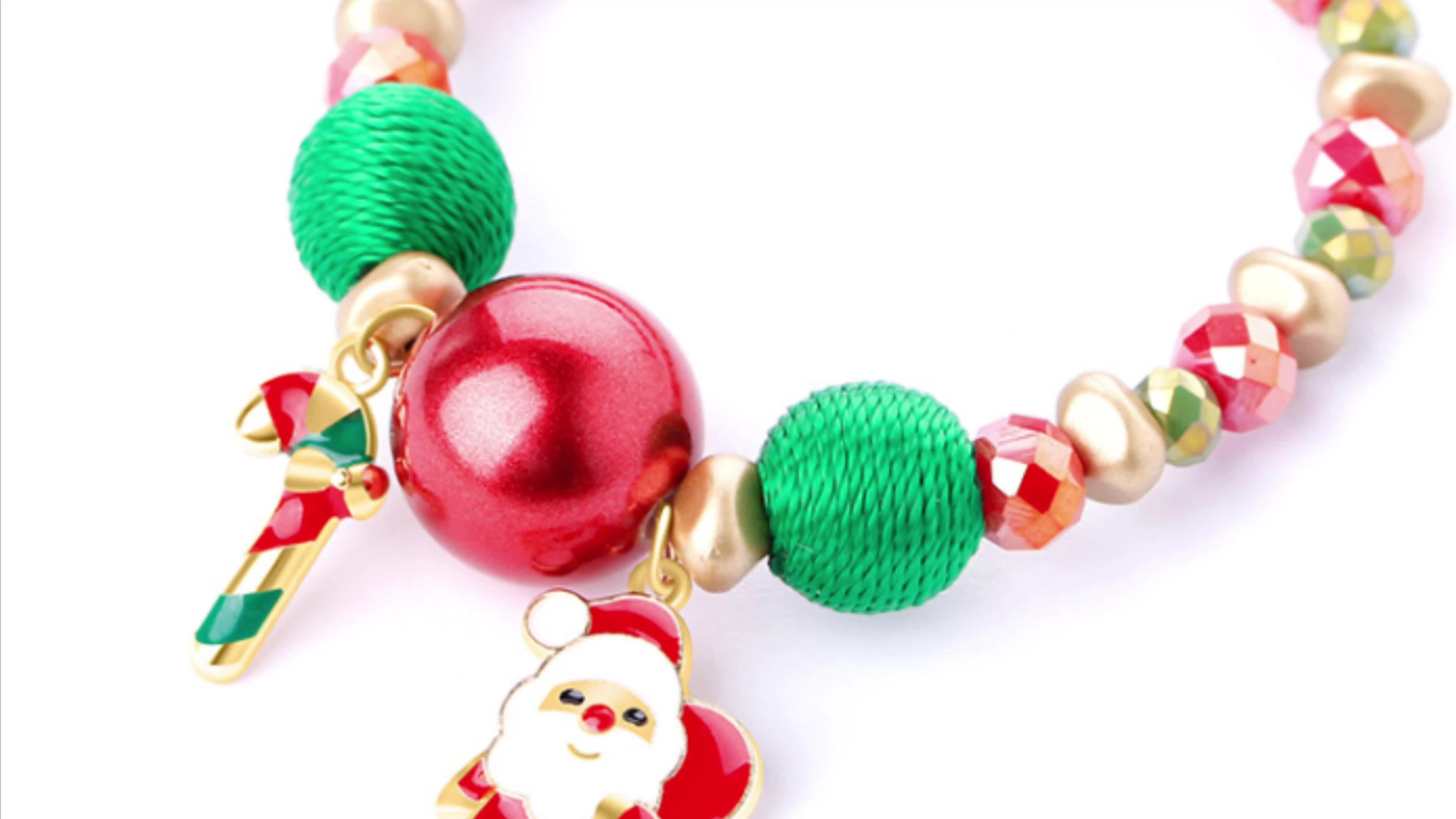 YIWU Fashion Prachtige Lucky Facet Crystal Kleine goedkope Kralen custom Kerst Armband voor mannen