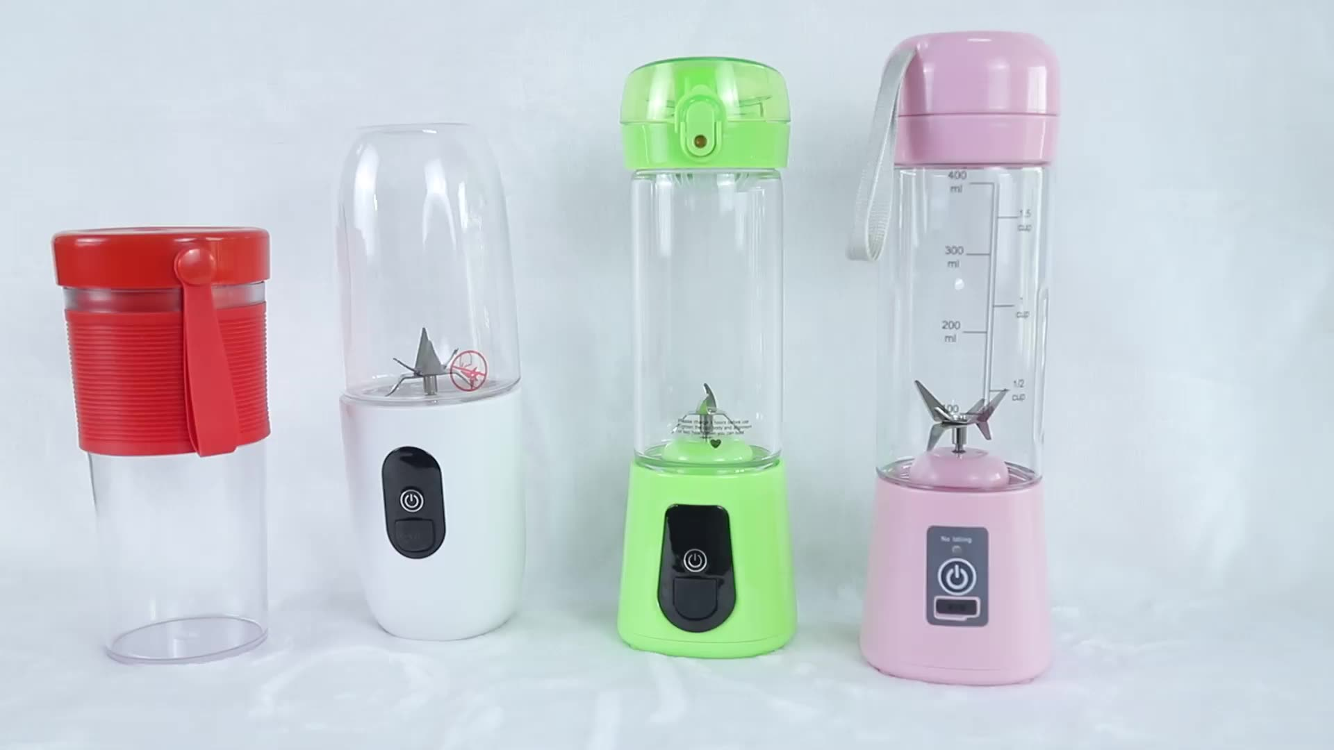 Portable Blender Mini Mixer Waterproof Smoothie Blender with magnetic suction Recharge BPA Free Tritan