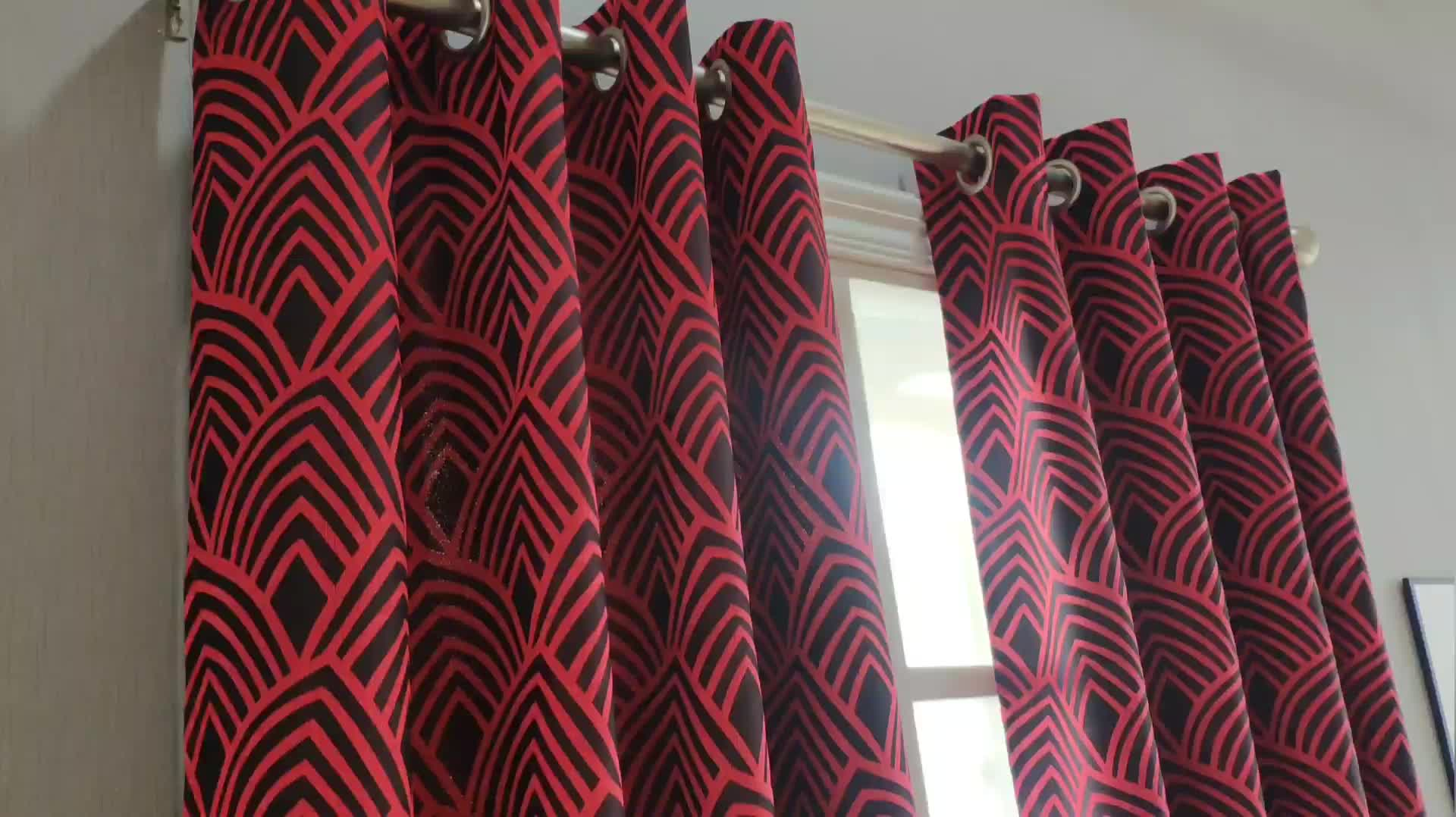 Hot selling Luxury Latest popular  High quality Jacquard  Curtain  for Bedrooms, Living Rooms