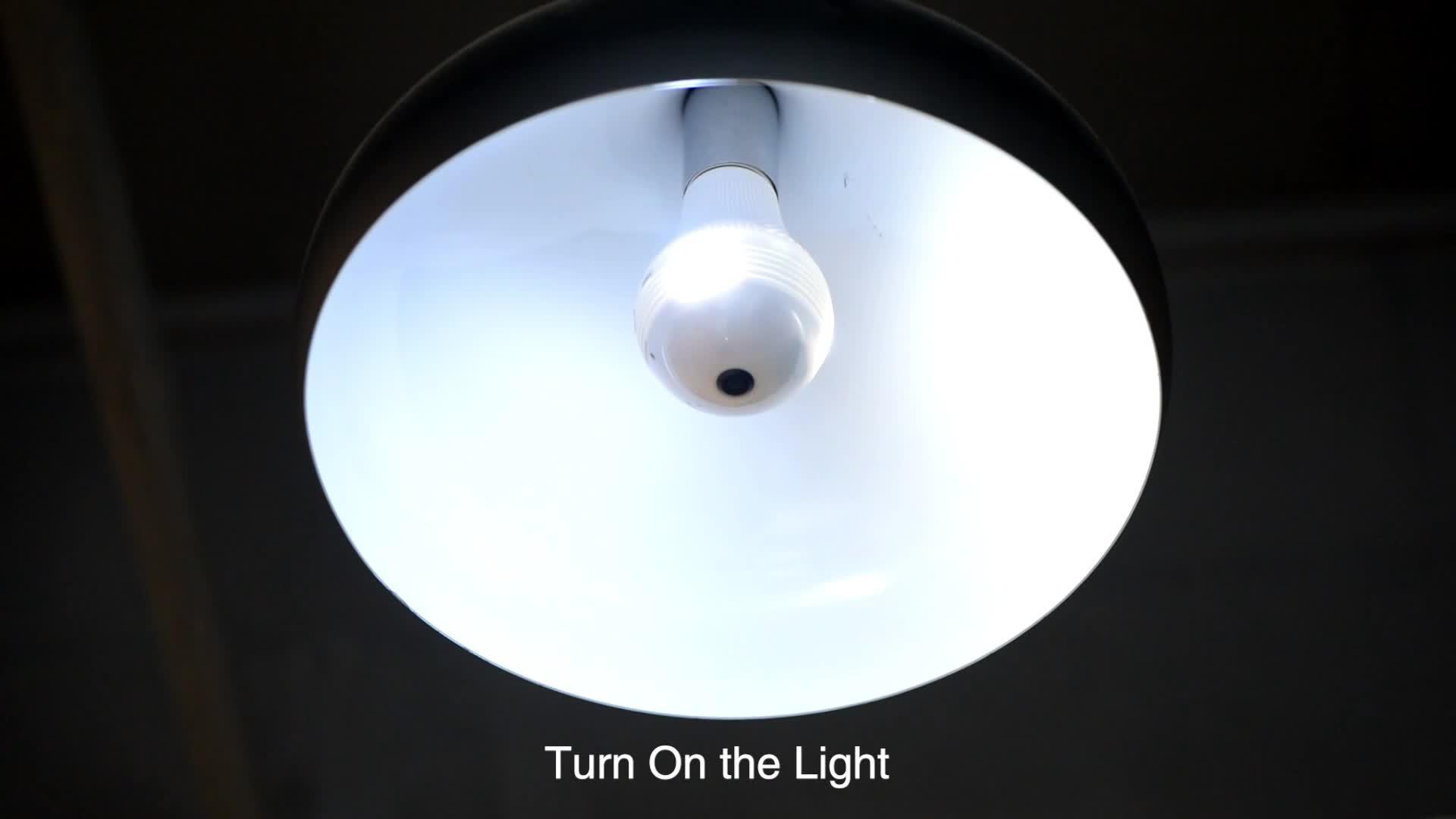ホット販売 960P 360 度ワイヤレス IP ライトミニ VR カメラセキュリティ電球無線 Lan カメラホーム