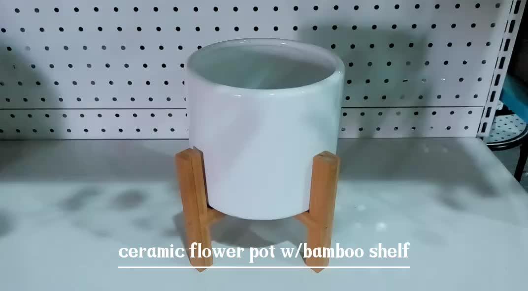 ラウンド小型セラミックホームテーブル使用植物植木鉢