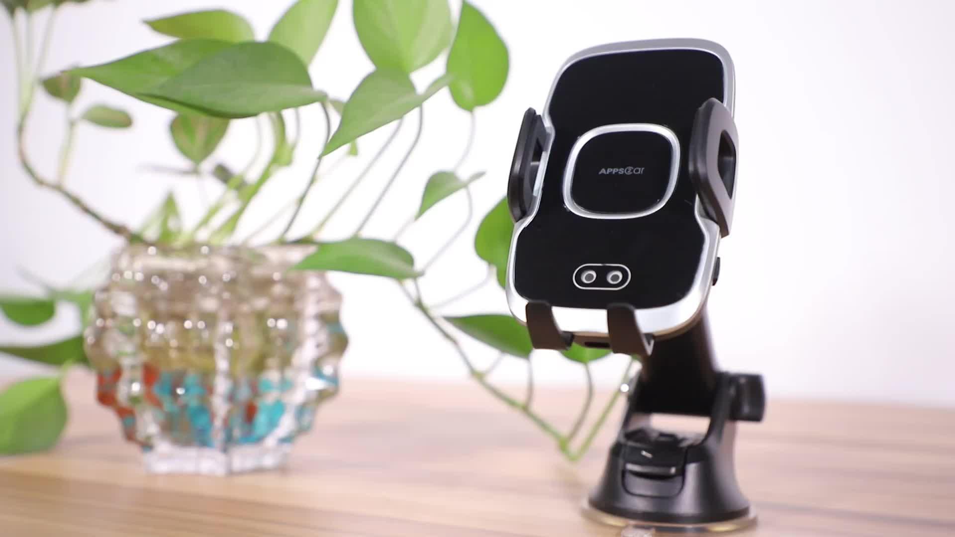 Infrarouge chaud Serrage Automatique Chargeur De Voiture Sans Fil 15W charge rapide Support D'aération 360 Rotation Charge Montage