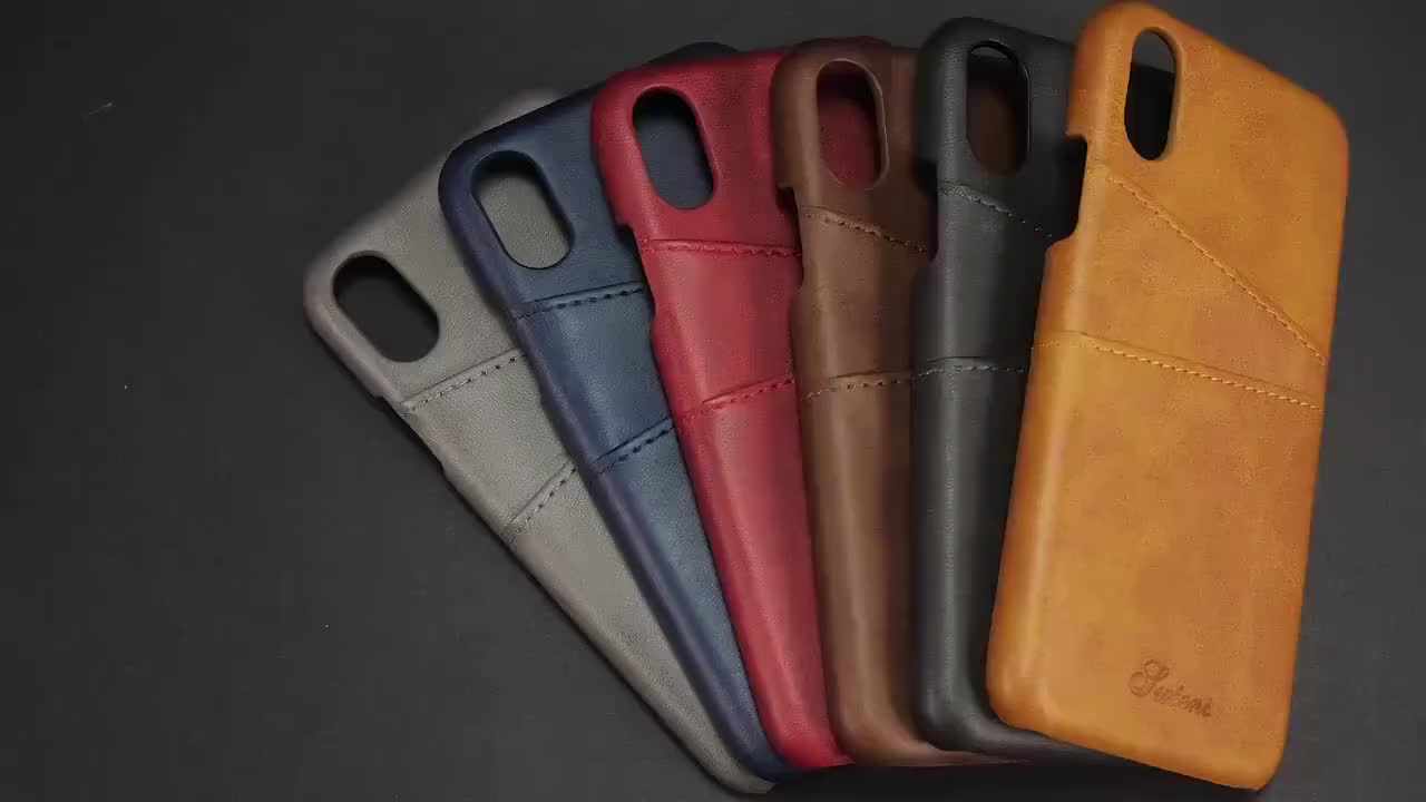 Luxury Wallet PU Leather Mobile Phone Case With Card Slot for iPhone X XS iPhone 8 Plus Case