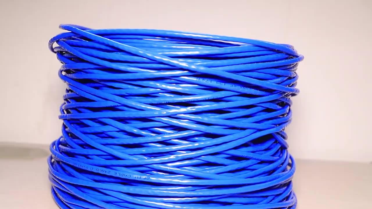 Kabel Lan untuk Penggunaan Internet Luar Ruangan, Jaringan Jaringan UTP Gradasi SFTP 305M 1.000 Kaki 20% Kucing Tembaga 5E Cat6 0.50Mm CCA 4 Pasang