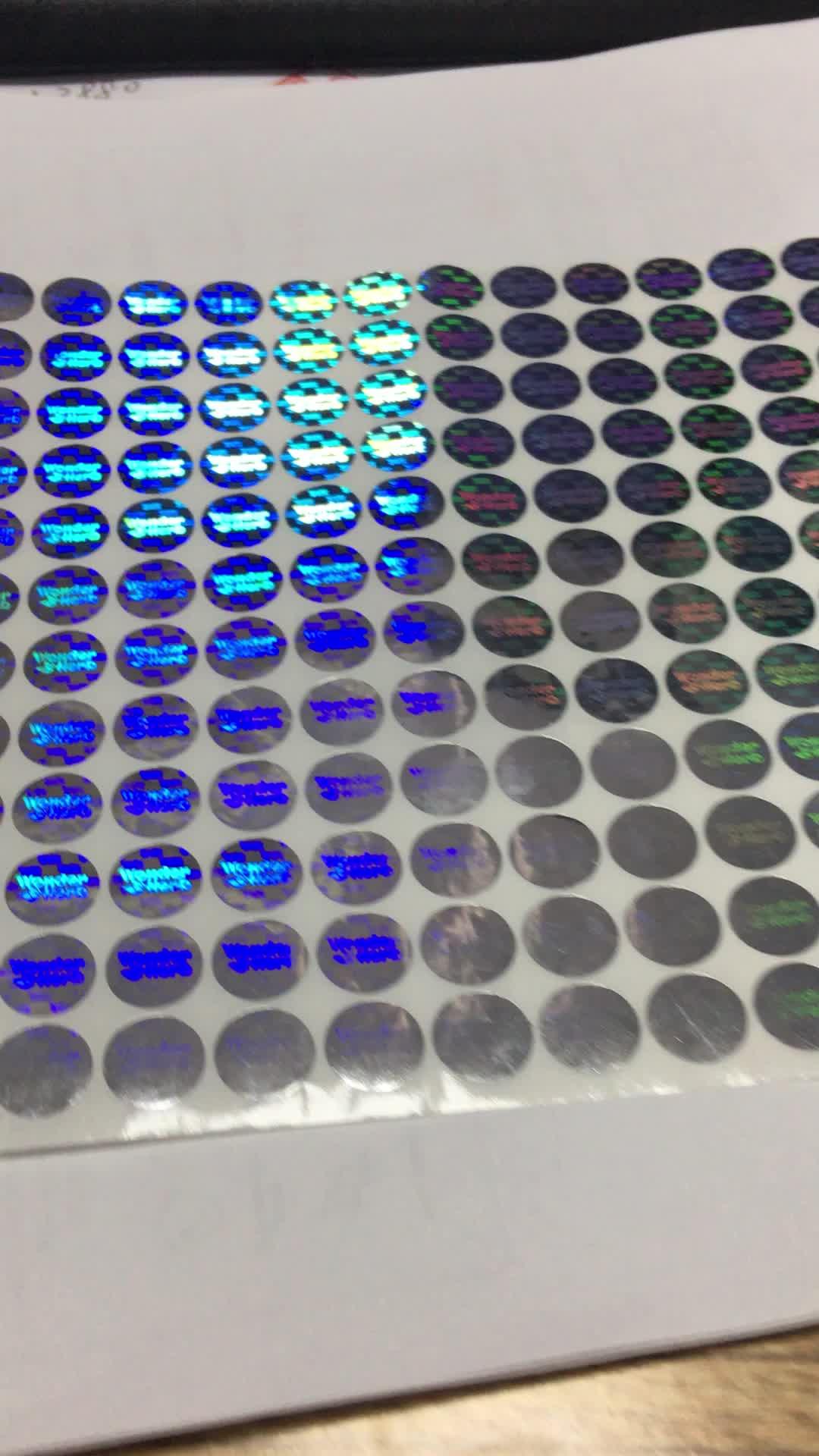 Etiqueta Do Holograma personalizado Etiqueta, Fazer O Seu Próprio Autêntico e Original Etiqueta Do Holograma De Segurança