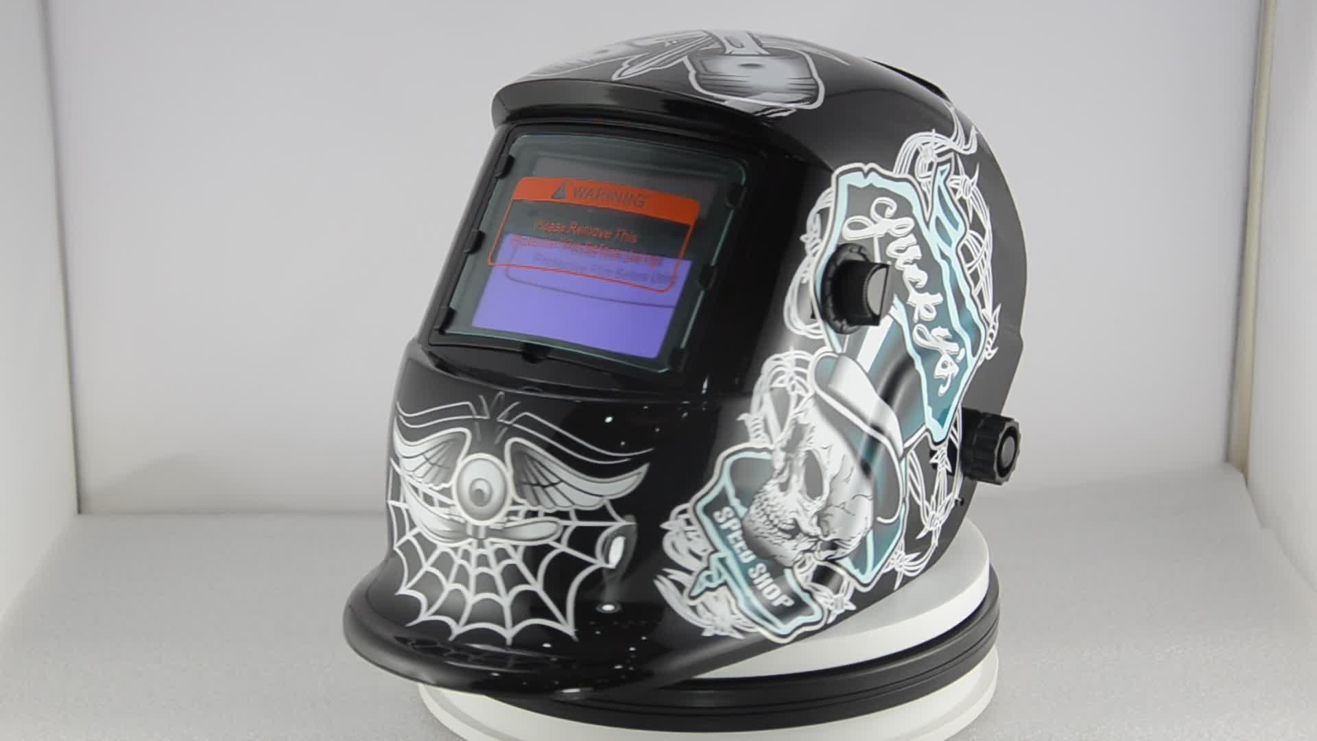 Rápidamente auto-oscurecimiento de tiempo de conmutación para casco de soldadura oscurecimiento automático