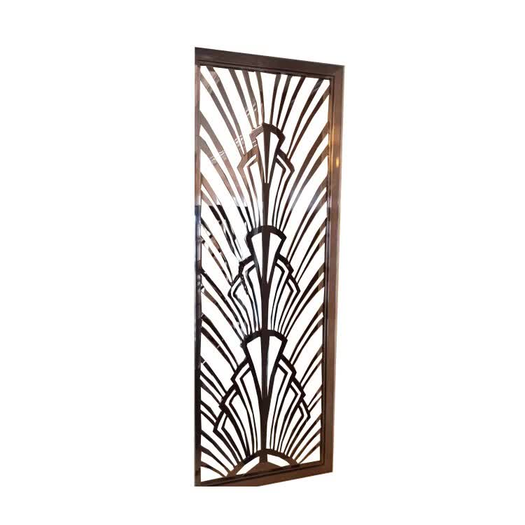 Laser cut metal panel room divider decorated metal panels Screen divider