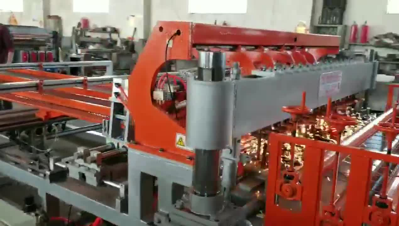 Full automatic cage mesh welding machine manufacture