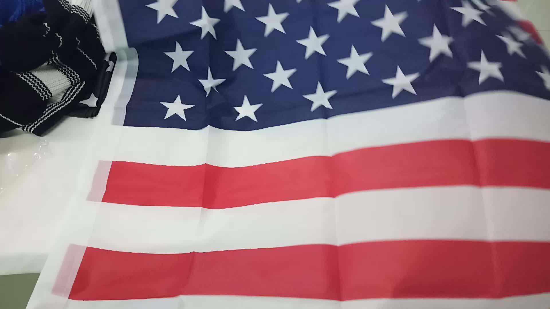 USA البوليستر أمريكا العلم الوطني 3X5ft 150*90 سنتيمتر حية اللون و تتلاشى مقاومة الأمريكية علم الدولة للديكور في الهواء الطلق
