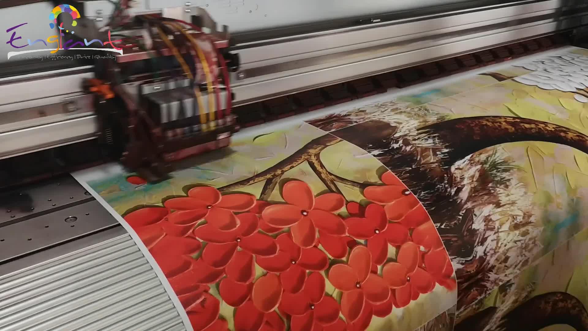 HD 5 mảnh màu đỏ flower tree palette knife dầu hiệu ứng trừu tượng hiện đại canvas in tranh khách sạn lớn trang trí tường nghệ thuật
