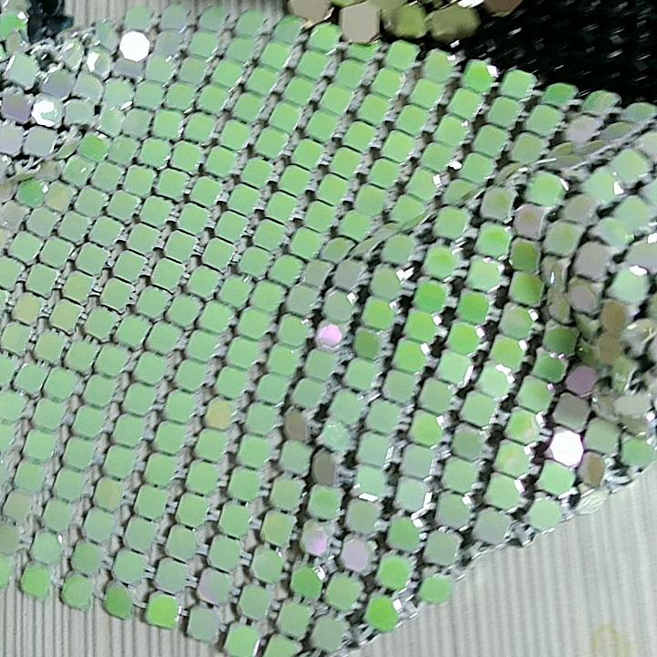 Pırıltılı glitter metal örgü perde metalik payet masa örtüsü