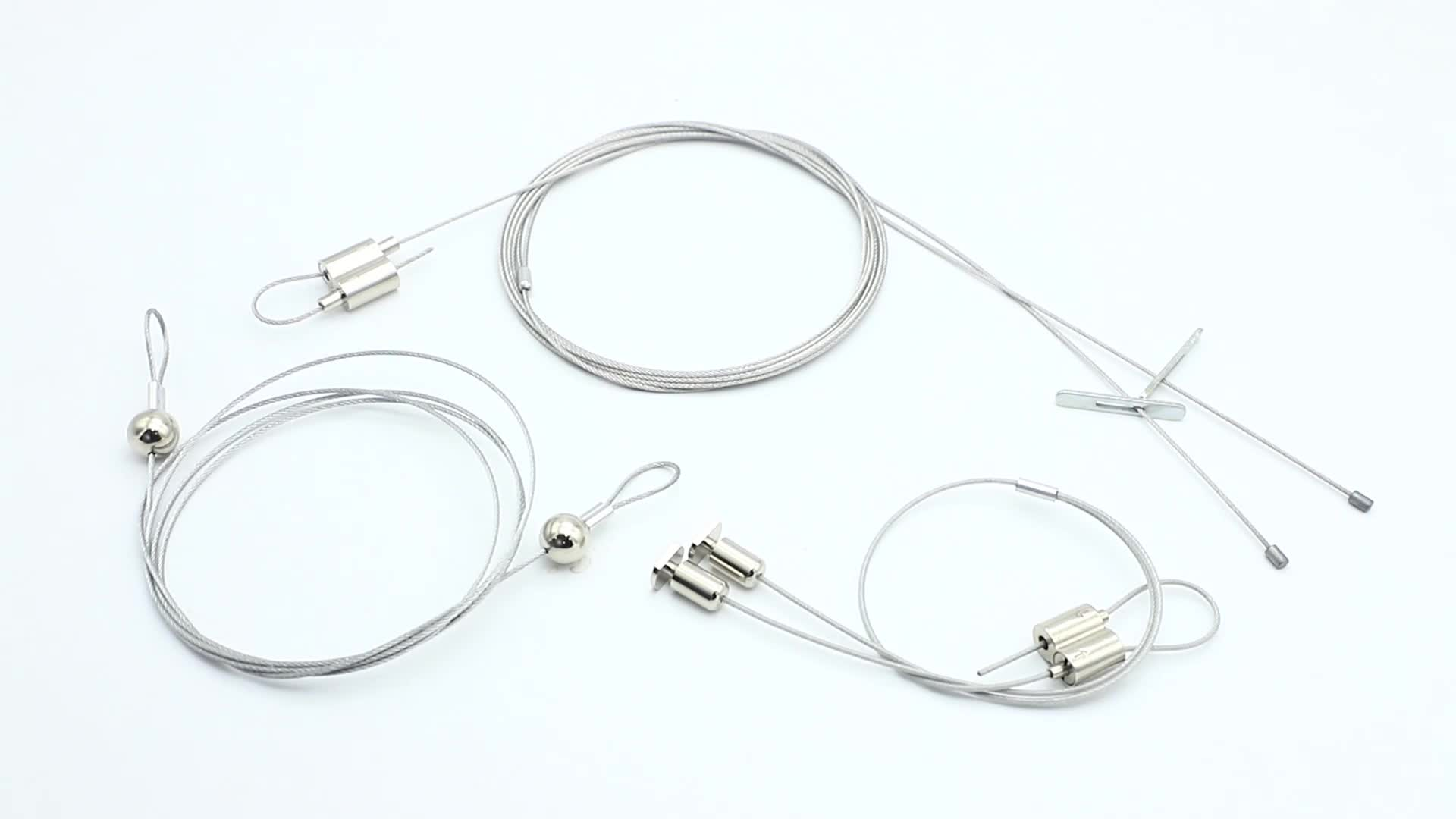 Attractive decoration suspension stainless wire sling for led grow lighting remote lighting lifter