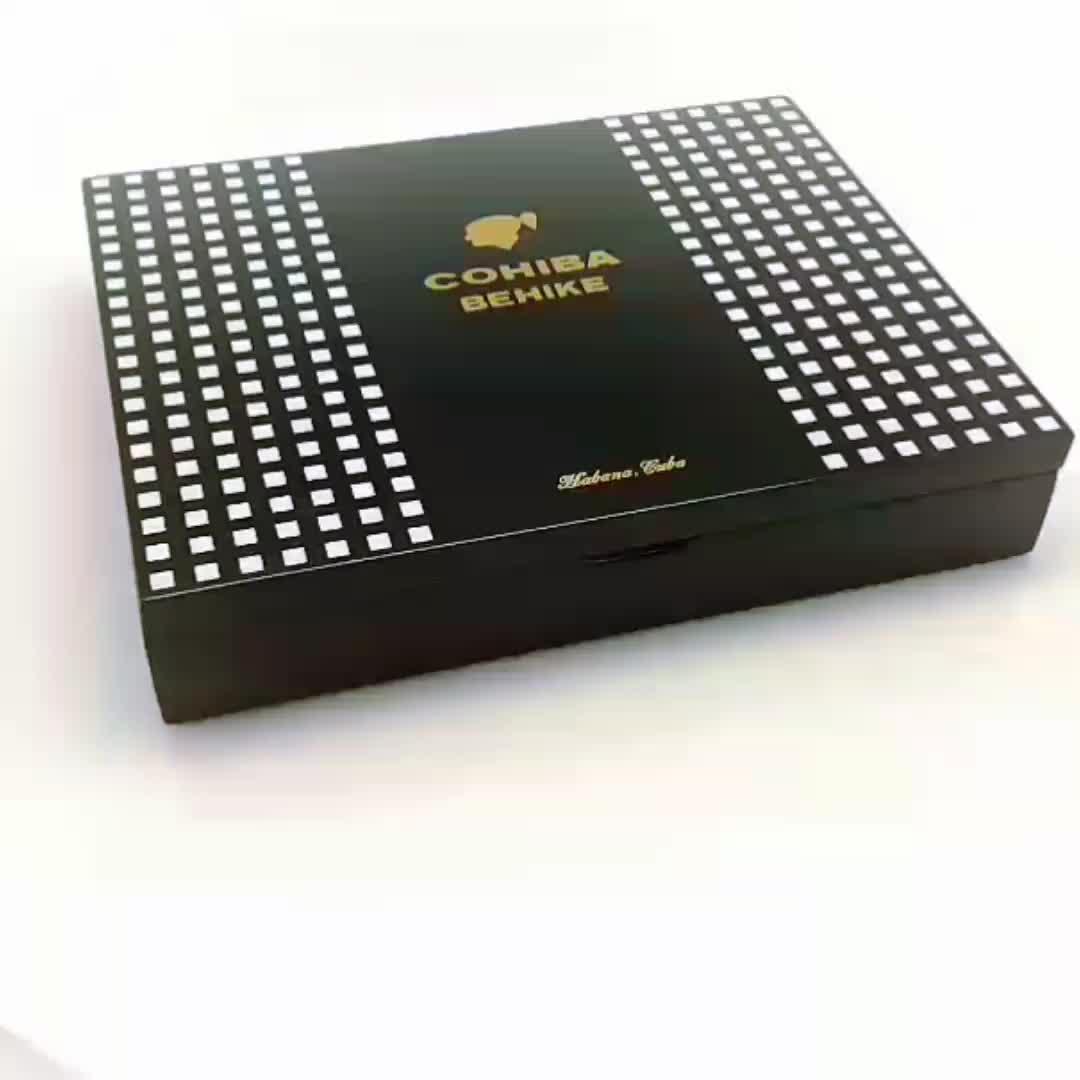 Cohiba Behike 56 กล่อง Limited edition ไม้เล็กซิการ์กล่องของขวัญบรรจุภัณฑ์ humidor ซิการ์
