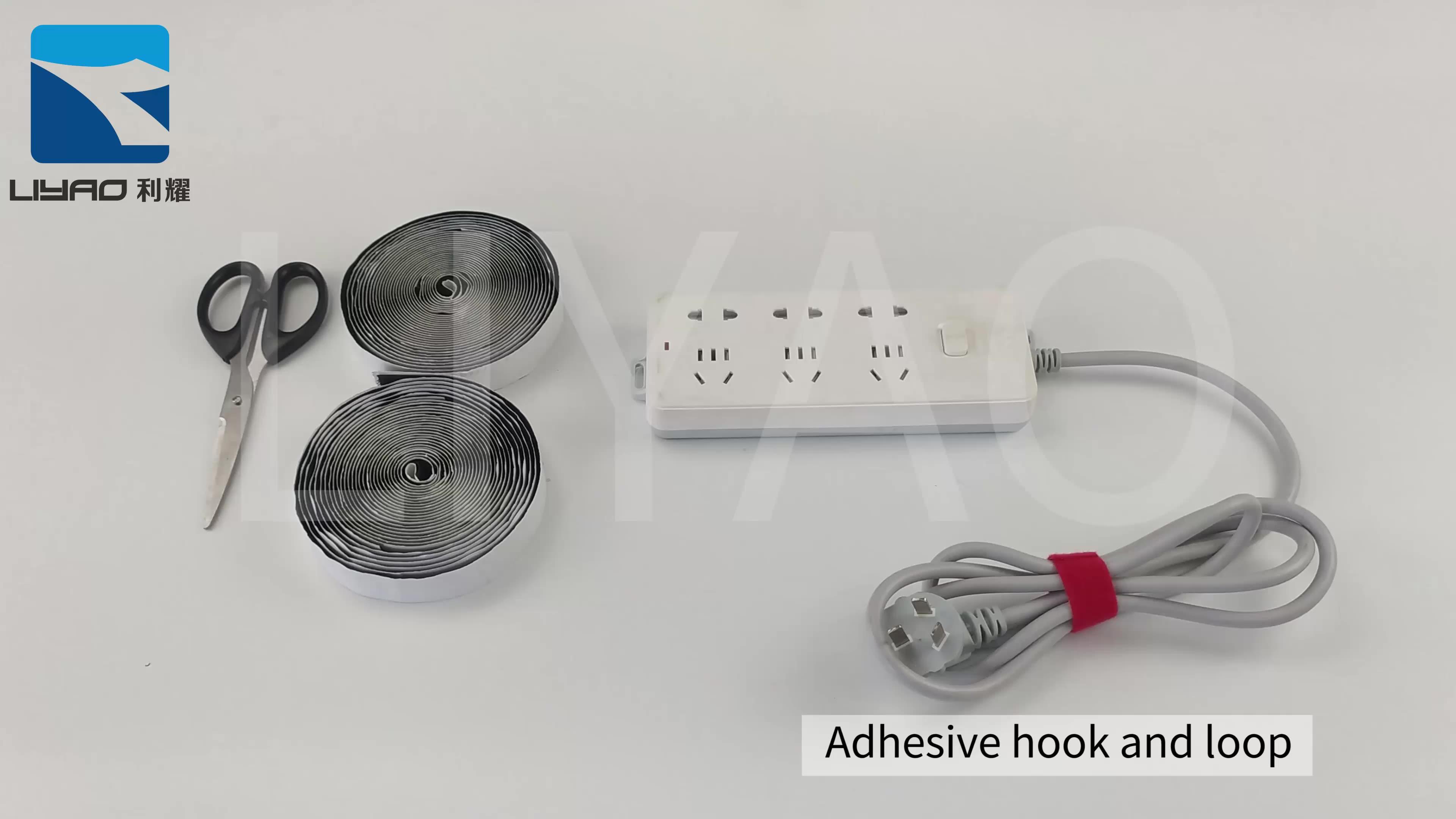 Custom 5mm 20mm Printed Self Adhesive Fastener Soft Nylon Fabric Hook And Loop Tape Sheet Roll