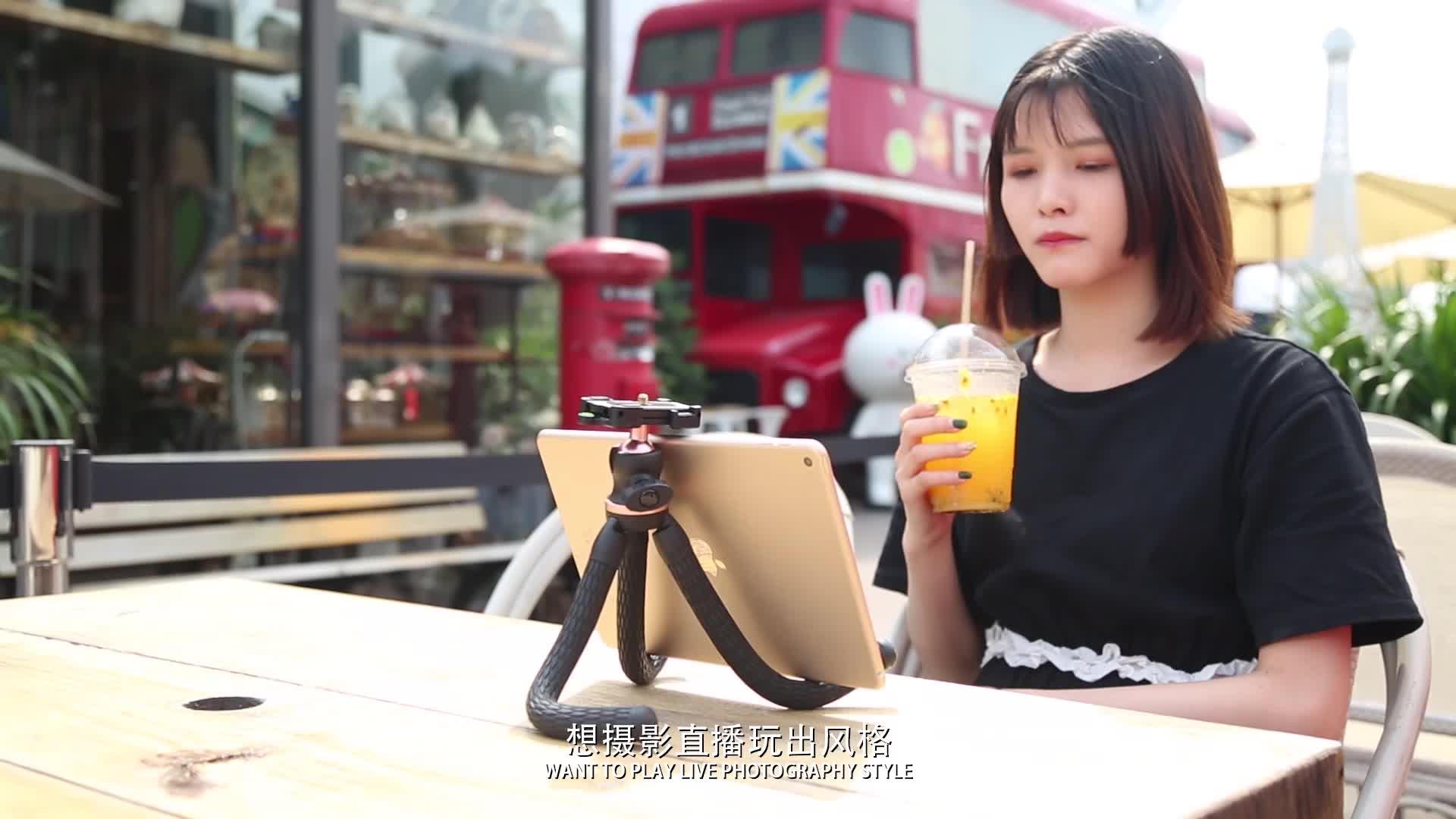 Flexible Camera Tripod Vlogging Bendable Travel Portable Mini Tripods Stands for DSLR Camera Smartphone Cell Phone