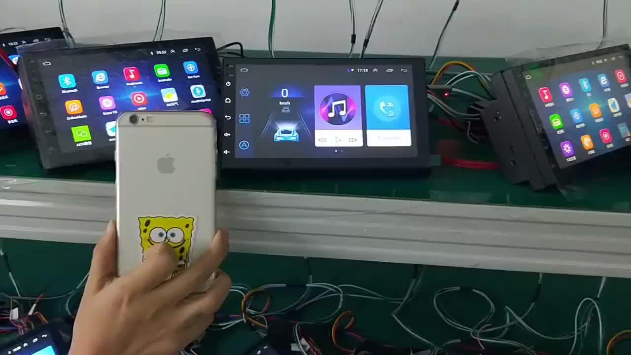 2020 Nuovo Universale 7 Pollici Android 8.1 Car Stereo 2 Din Android Autoradio con Bluetooth Gps Dello Specchio di Collegamento