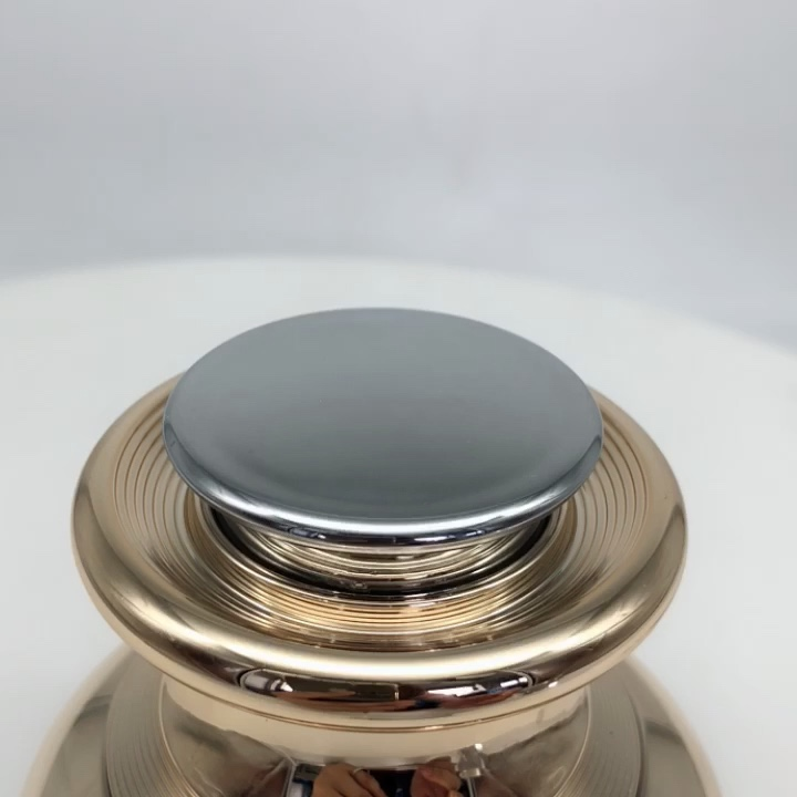 Acrylic luxury plastic container for cream jar cosmetic with electric vibrating head massager machine