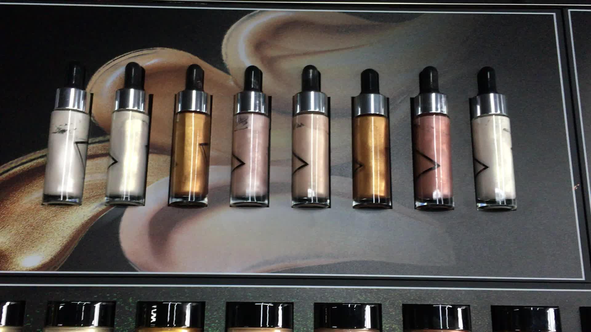 防水化粧品ファンデーションメイクハイライトプライベートラベル液面蛍光