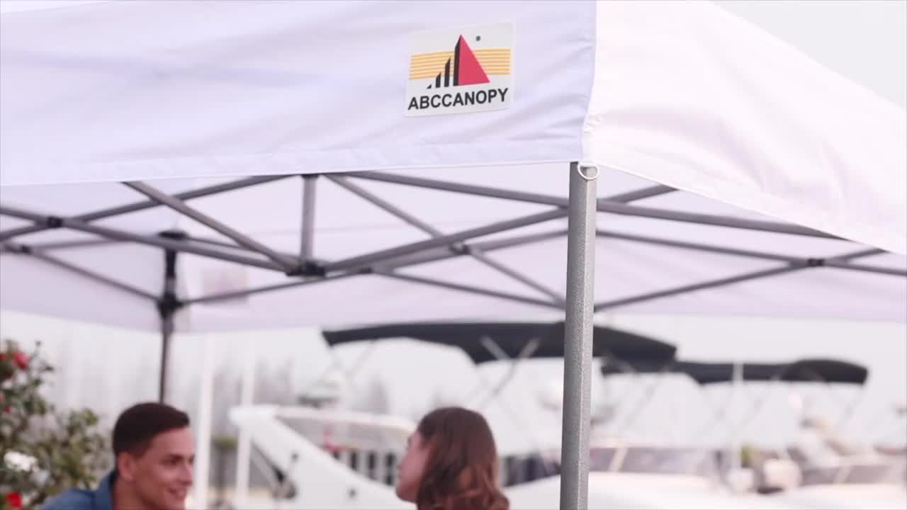 2020 ABCCANOPY Pop-Up Canopy Tent Sun Protection Comapct and Lightweight Beach Canopy Slant Leg Backpack Canopy