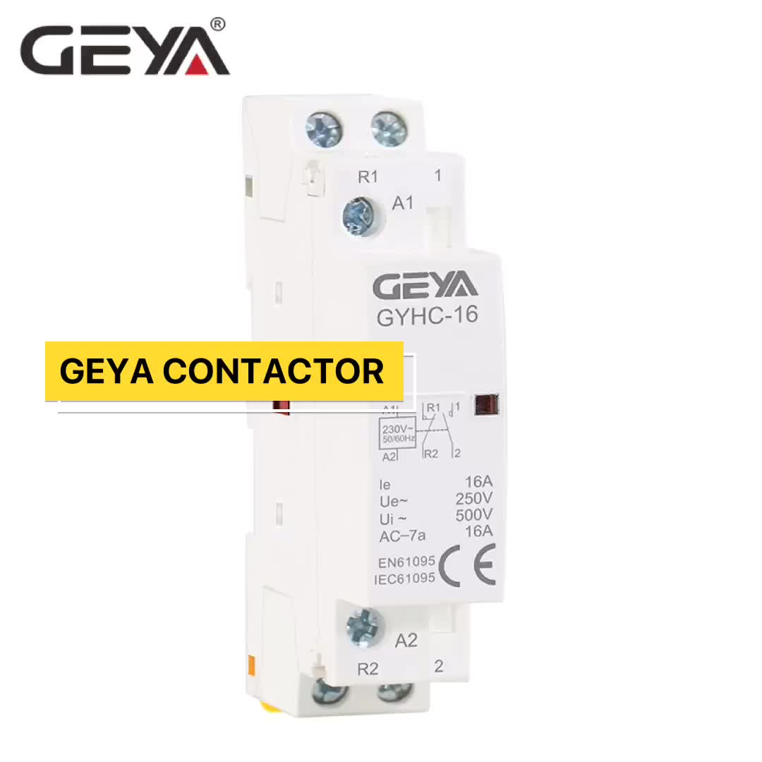 GEYA High Quality GYHC 16A 20A 25A General Electrical Household 4 Pole AC Contactor 4NO OR 2NO2NC Factory AC DC Contactor Price