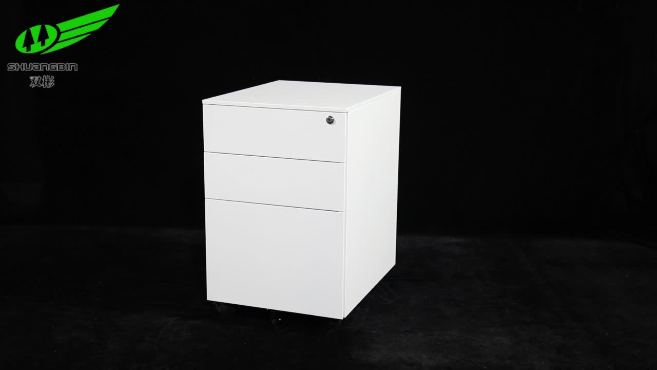 Customized coded lock mobile pedestal small  2 drawer lateral file cabinet
