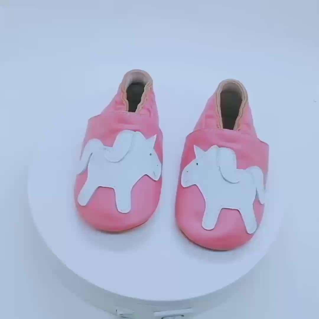 Bella Personalizzato In Pelle Carino Per Bambini Slipper Bambino Unicorn Pantofole A Forma di Commercio All'ingrosso