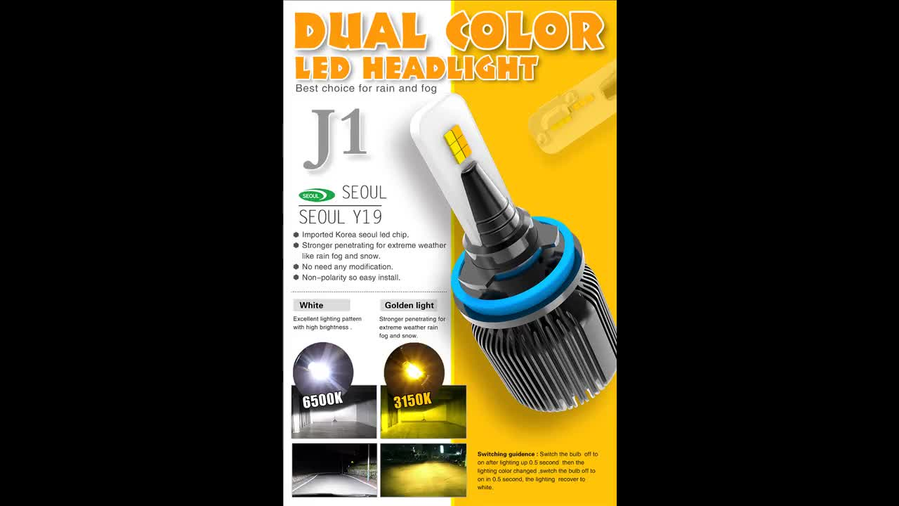 Cost effective small size H4 H7 H13 9004 9005 9006  9007 easy installation LED head lamp