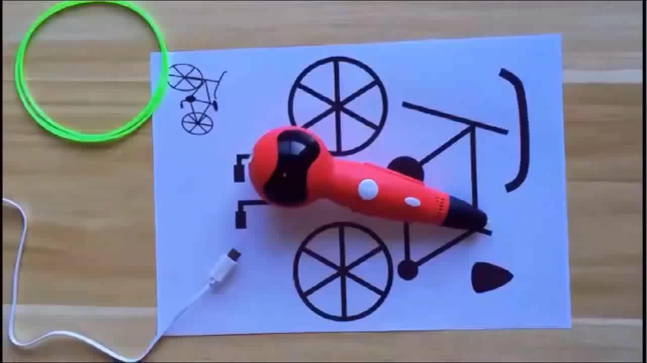 Nieuwste 3D Pen Robot 3D Tekening Afdrukken Printer Pen met Gesproken Aanwijzingen PLA Filament Vullingen Automatische Voeden