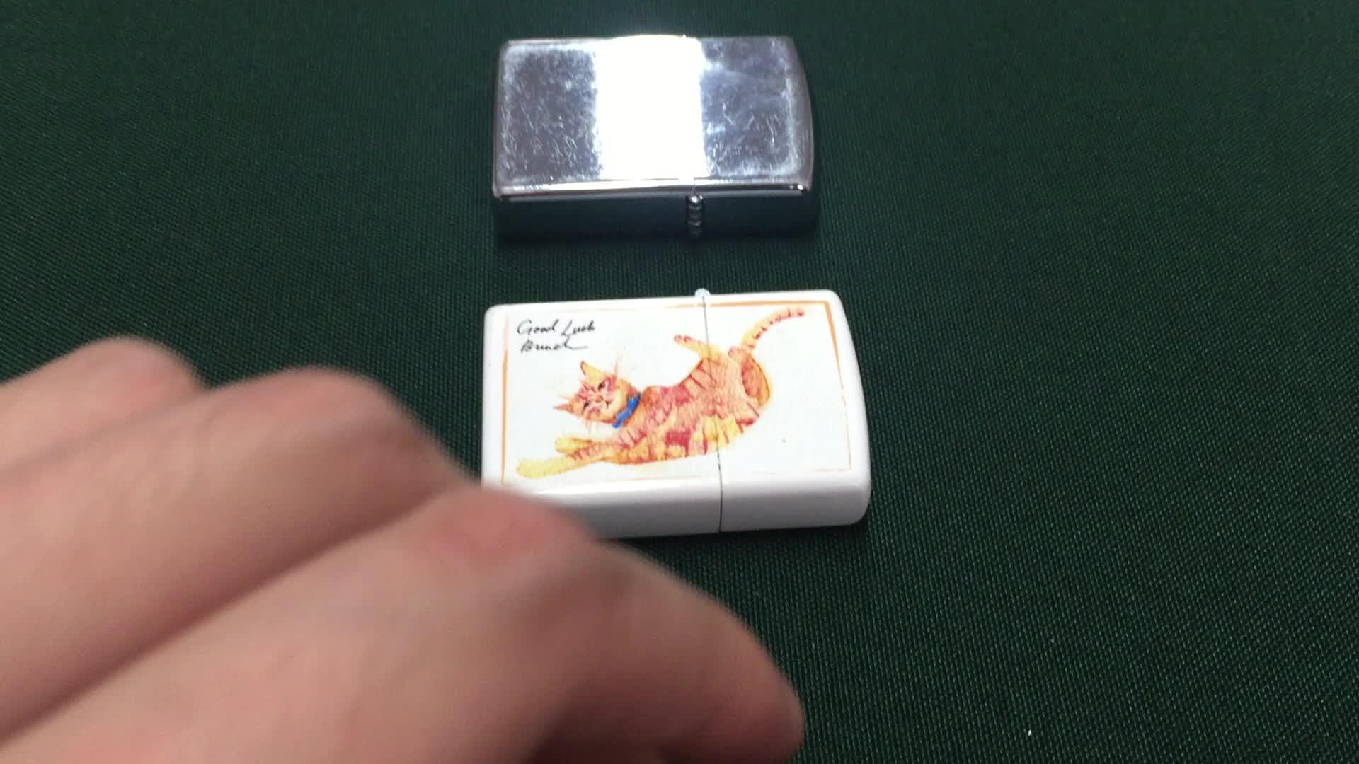 安いホワイトオイル金属防風非使い捨て古典的な空白ライター