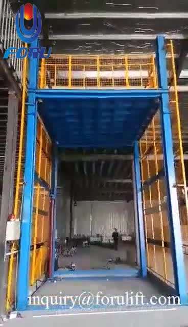 Outdoor and indoor  hydraulic vertical cargo lift