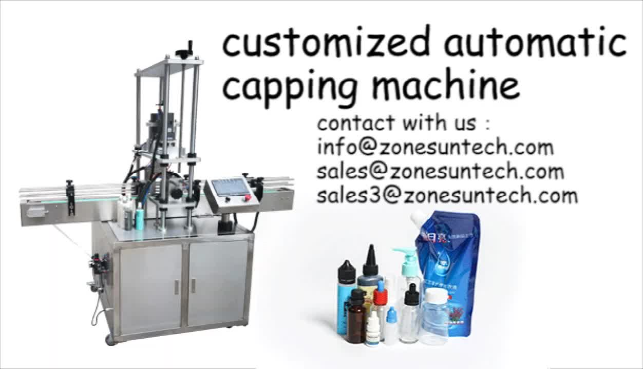 ZONESUN ZS-XG440A Automatic 10-50mm Desktop Electric Plastic Glass Bottle Capping Machine With Security Ring Pressing Machine