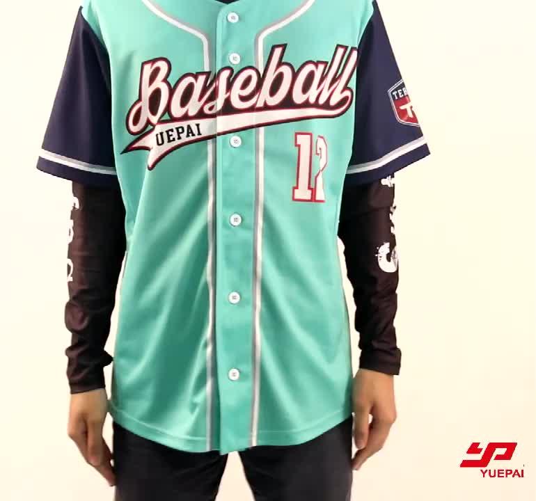 Oem полосатая командная бейсбольная Джерси Мужская рубашка Заказная печать бейсбольная форма сублимационная бейсбольная Джерси для продажи