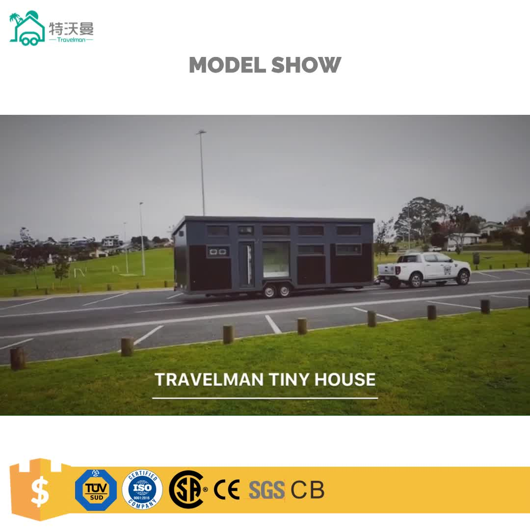 Travelman Hotel Use and Steel Material Prefab Green Tiny House on Wheels