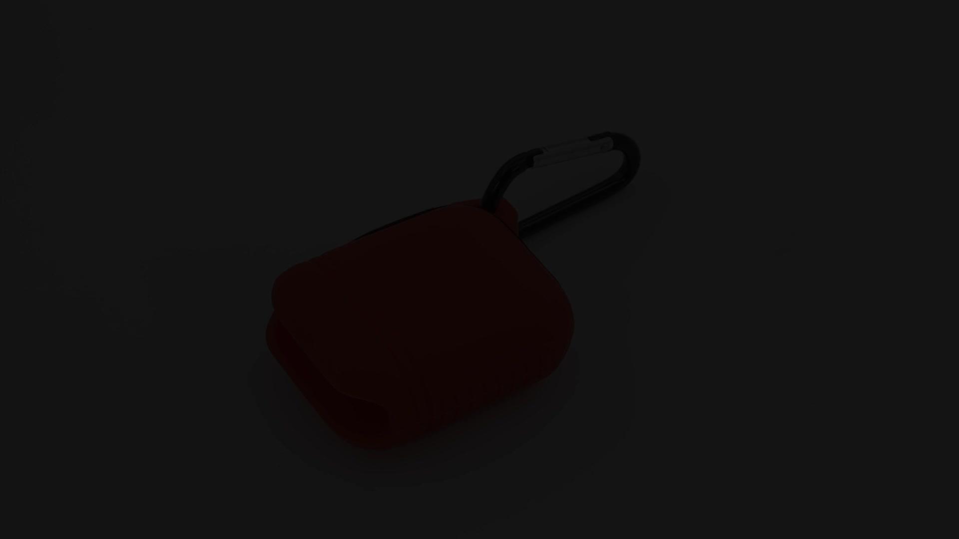 Nuovo prodotto OEM originale nero cassa del silicone del trasduttore auricolare senza fili di trasporto per apple airpods